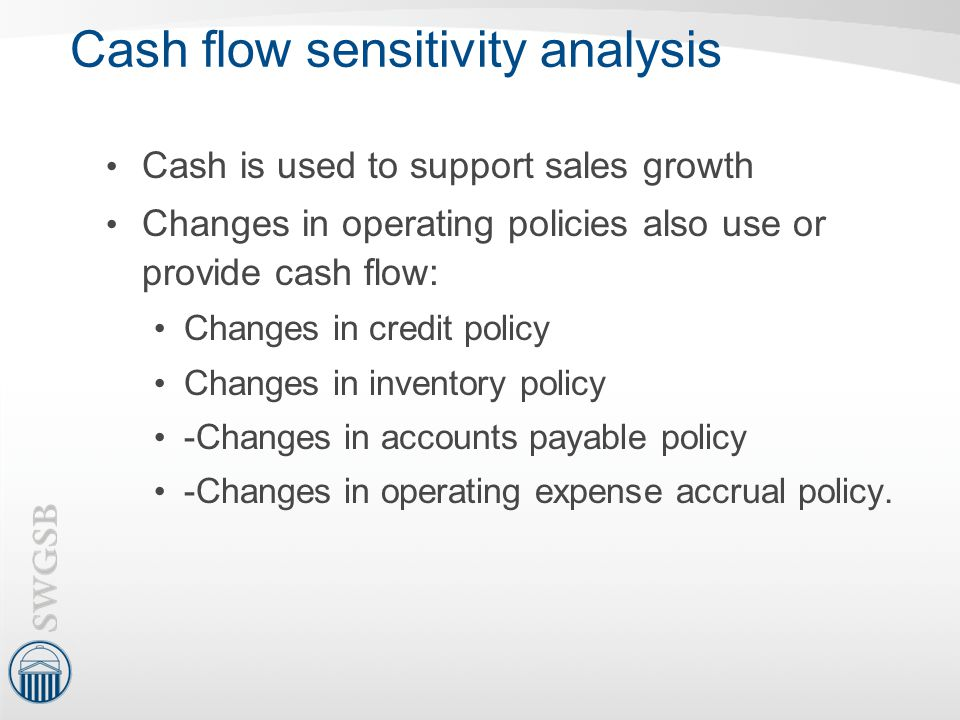 Cash flow sensitivity analysis