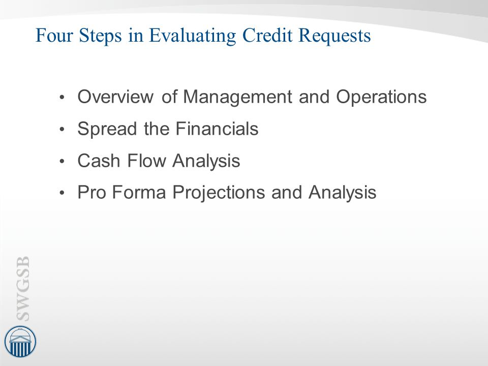 Four Steps in Evaluating Credit Requests