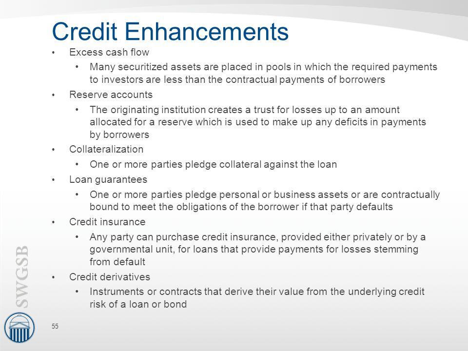 Credit Enhancements Excess cash flow