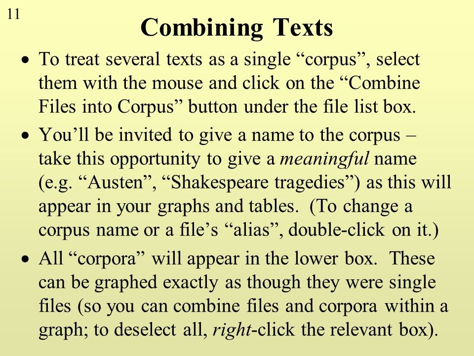 Combining Texts