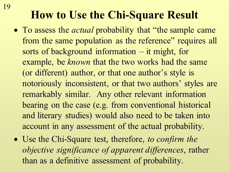 How to Use the Chi-Square Result