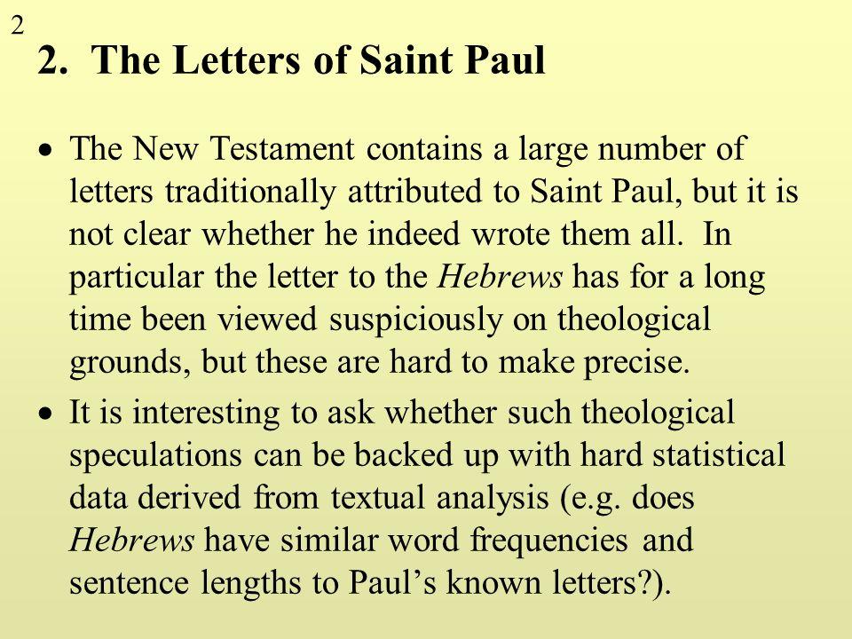 2. The Letters of Saint Paul