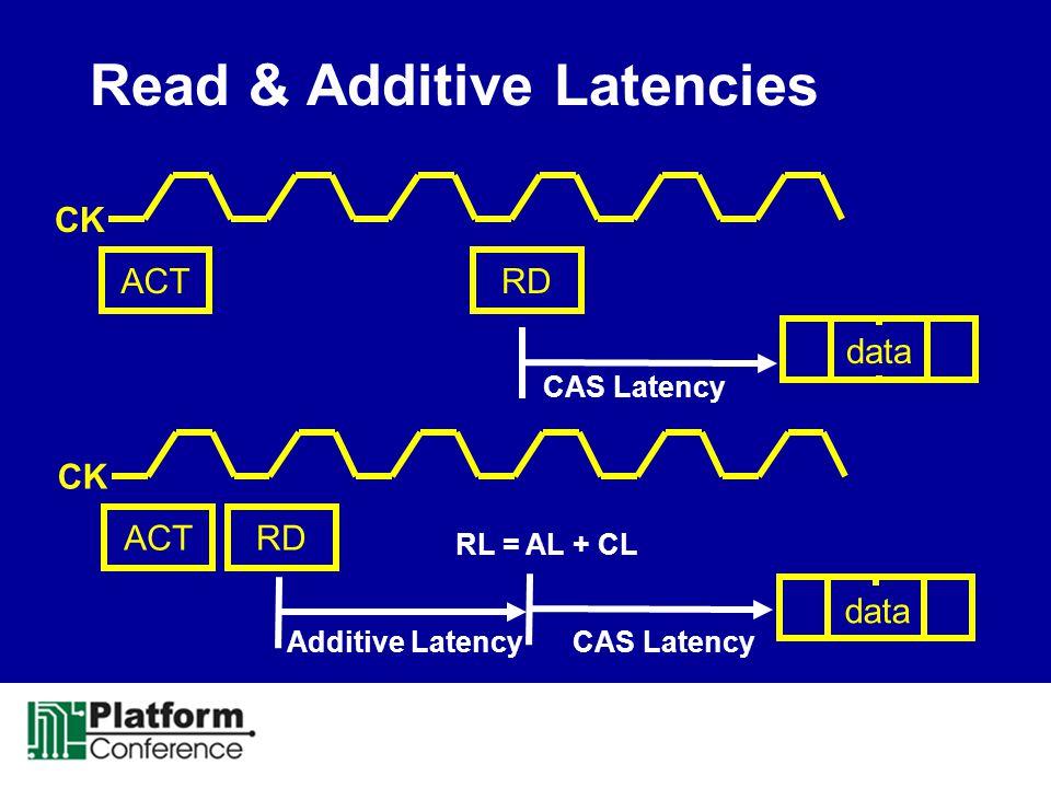 Read & Additive Latencies