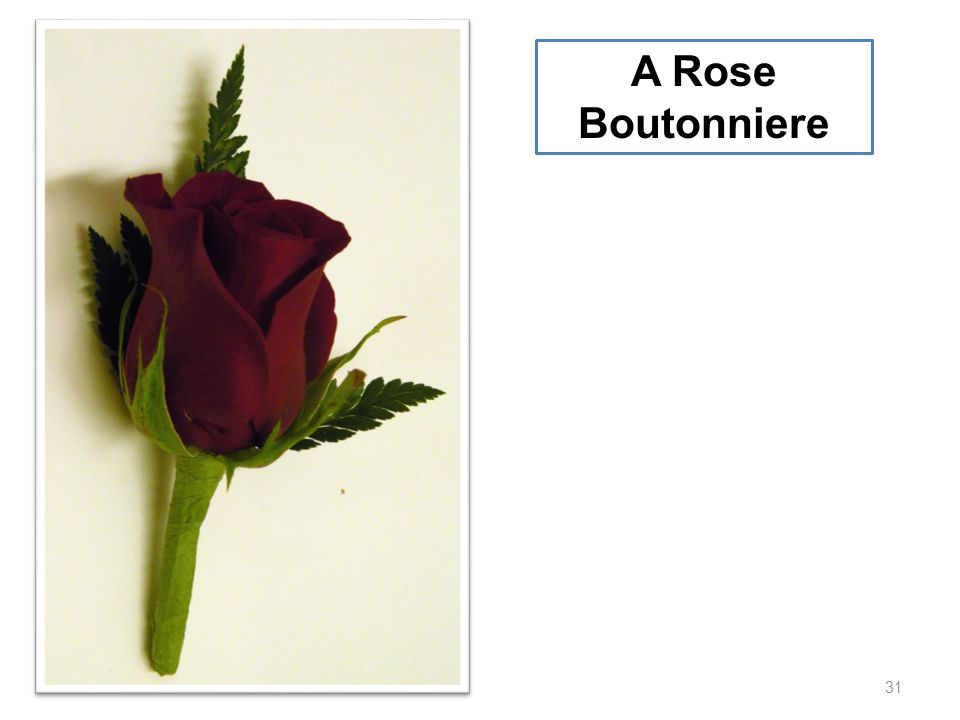 A Rose Boutonniere