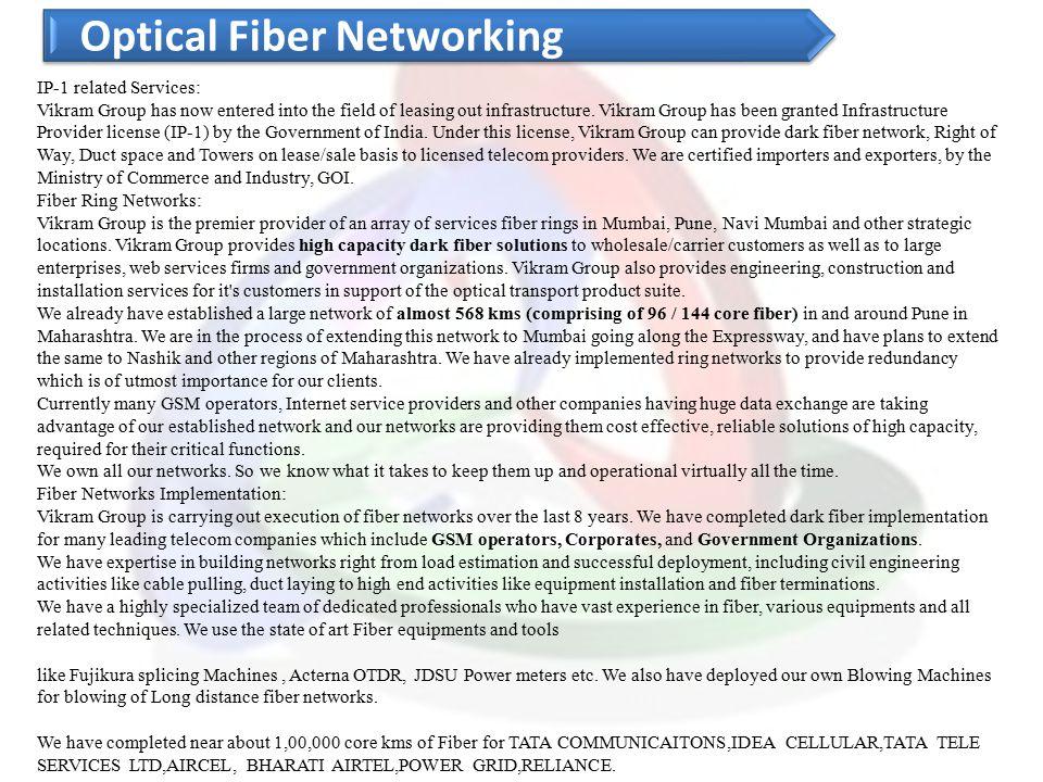 Optical Fiber Networking
