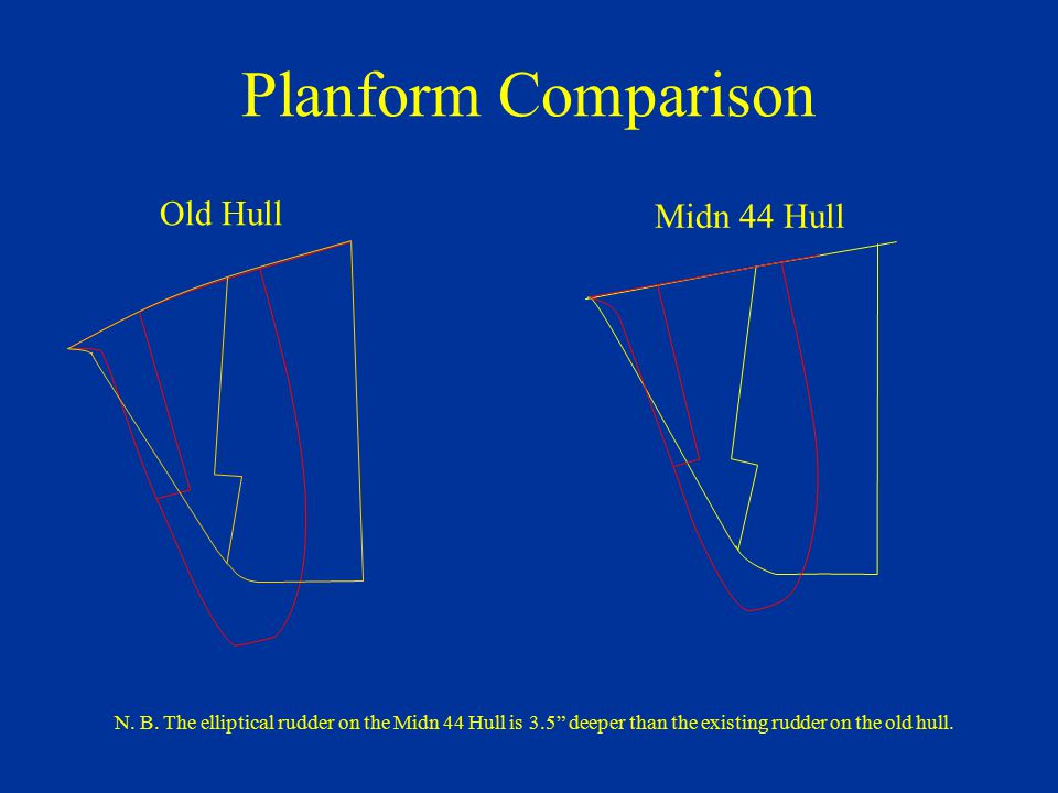 Planform Comparison Old Hull Midn 44 Hull