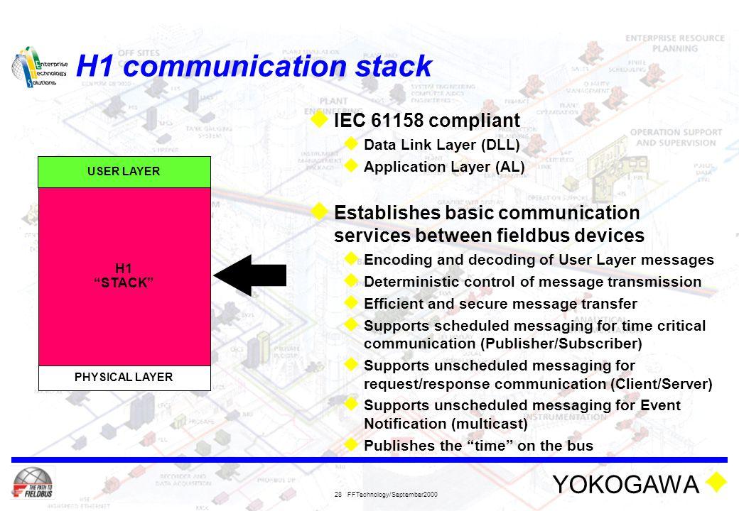 H1 communication stack IEC 61158 compliant