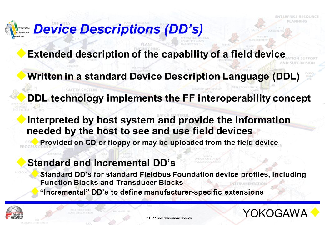 Device Descriptions (DD's)