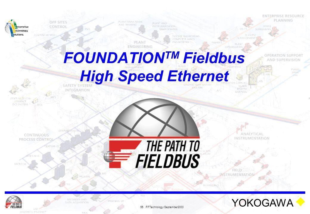 FOUNDATIONTM Fieldbus High Speed Ethernet