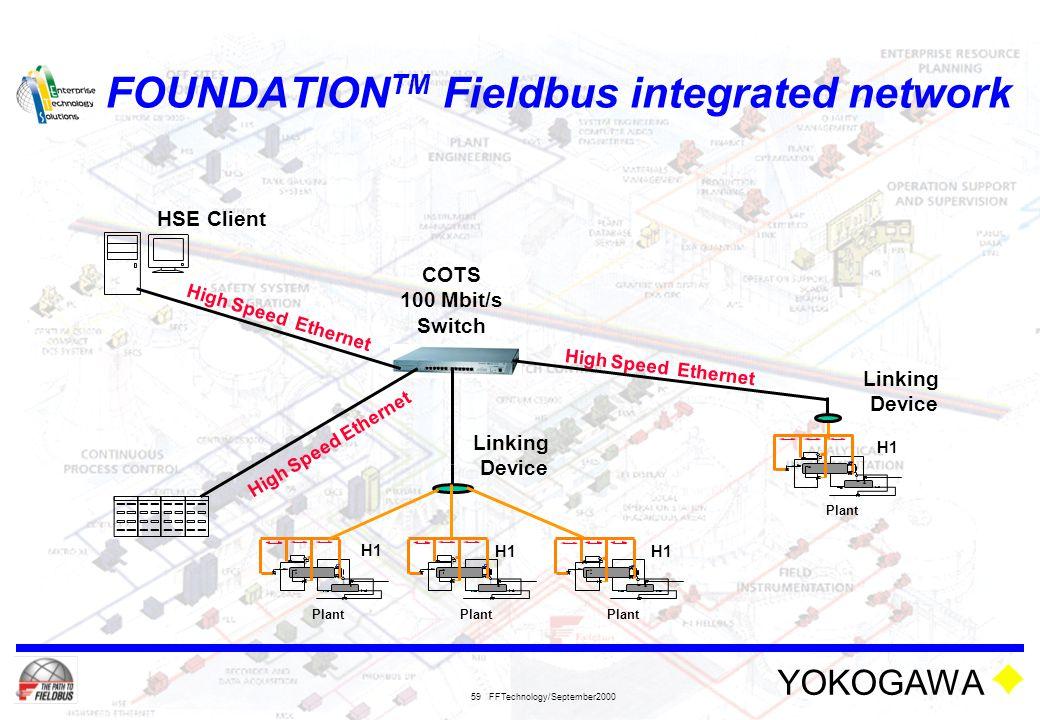 FOUNDATIONTM Fieldbus integrated network