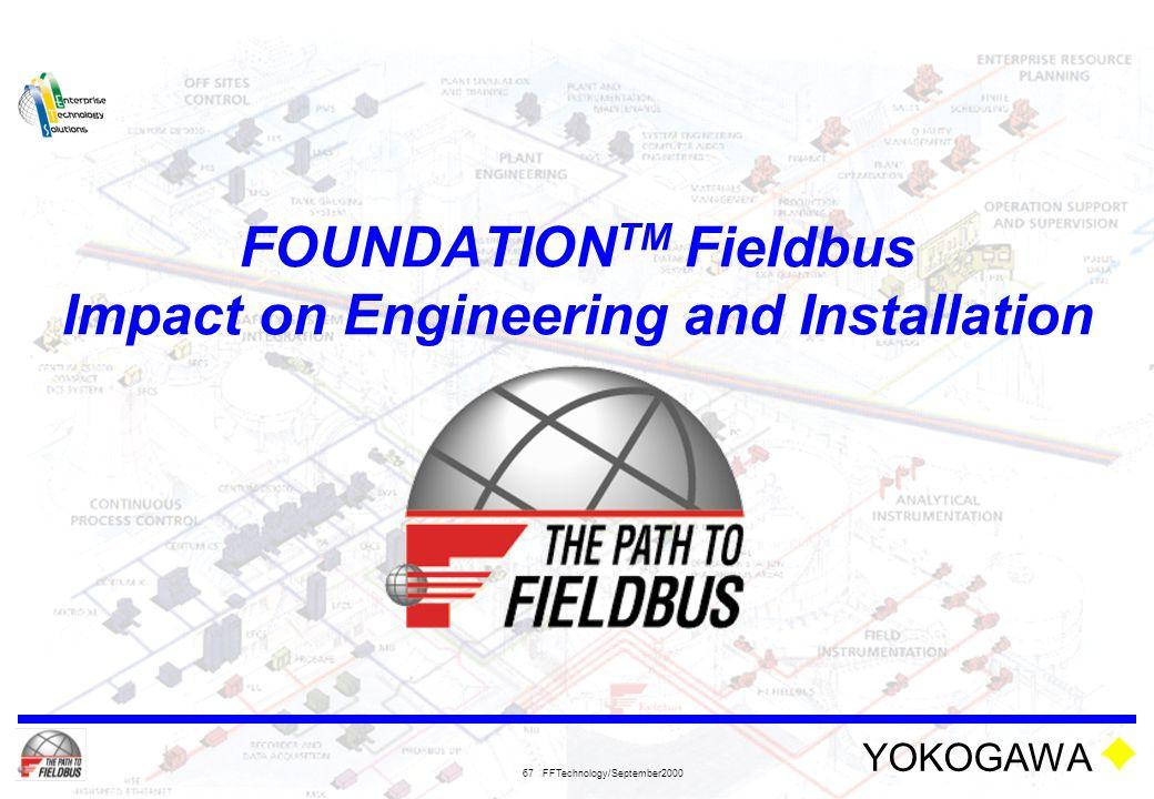 FOUNDATIONTM Fieldbus Impact on Engineering and Installation