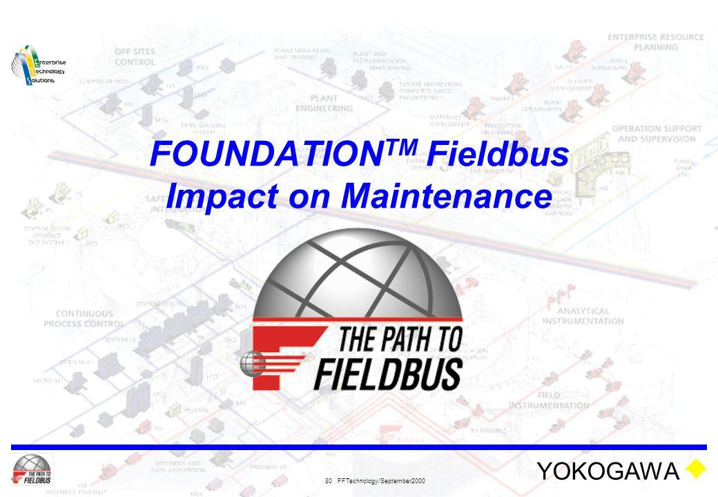 FOUNDATIONTM Fieldbus Impact on Maintenance