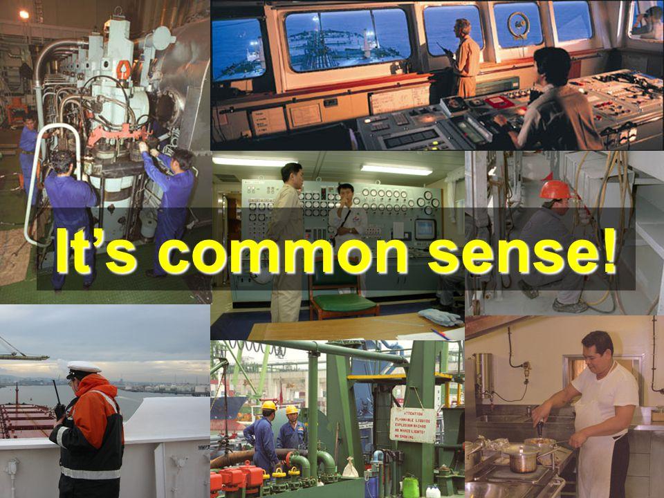 It's common sense!