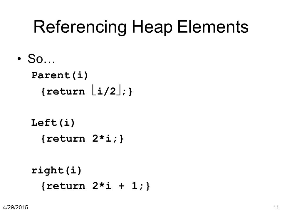 Referencing Heap Elements