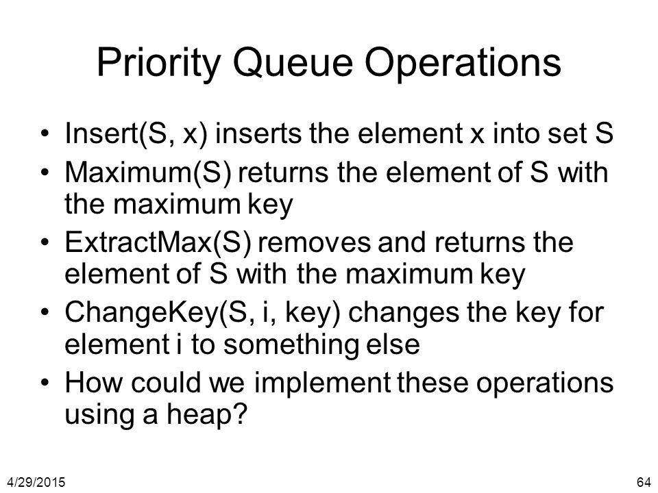 Priority Queue Operations