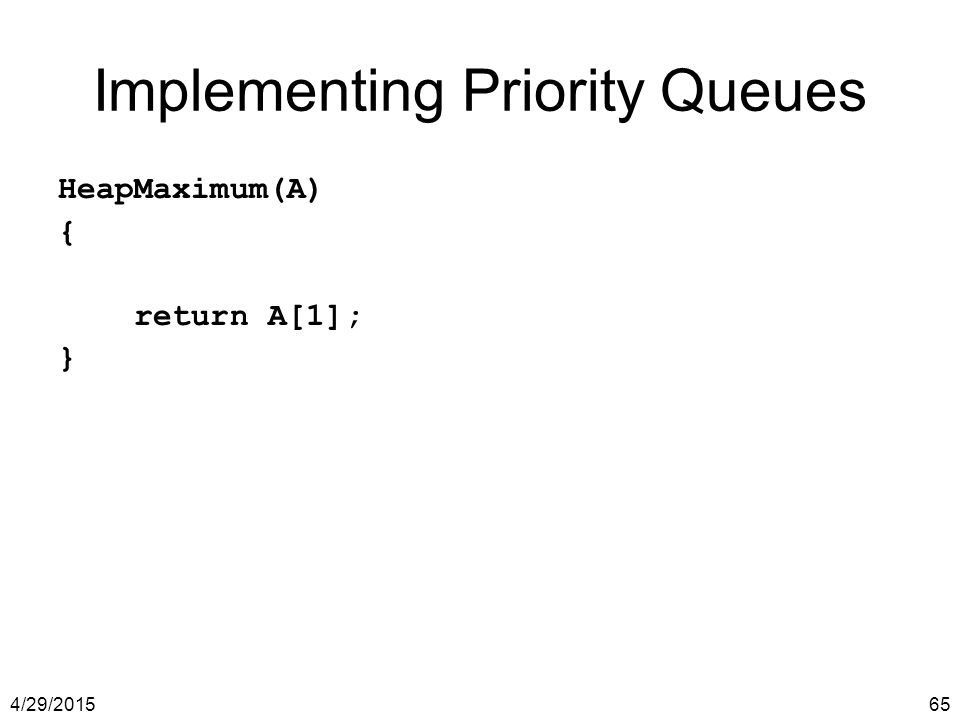 Implementing Priority Queues