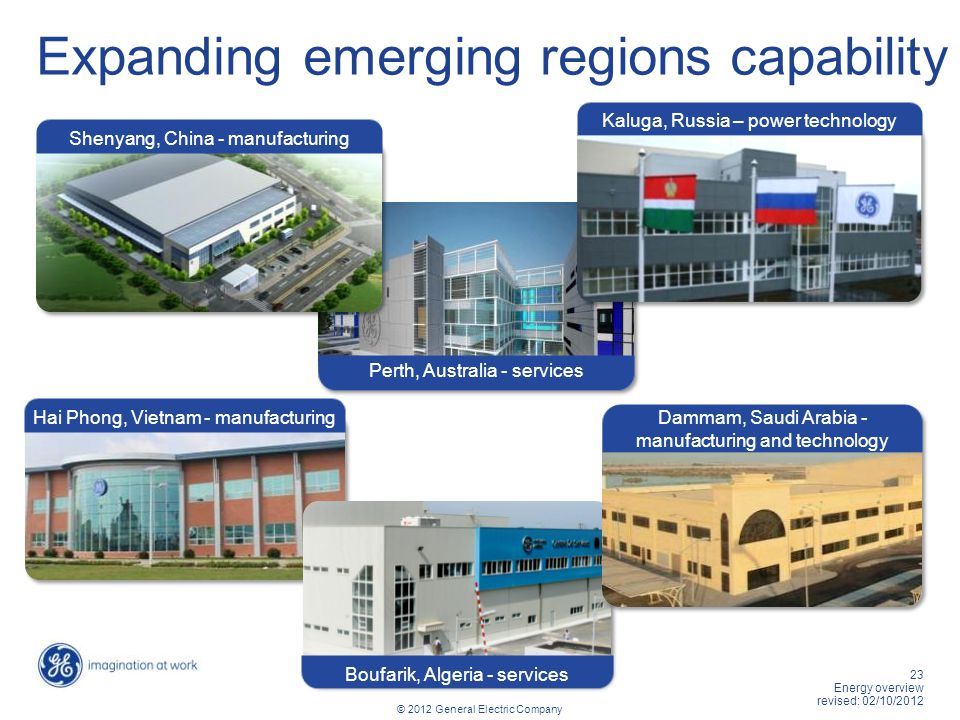 Expanding emerging regions capability