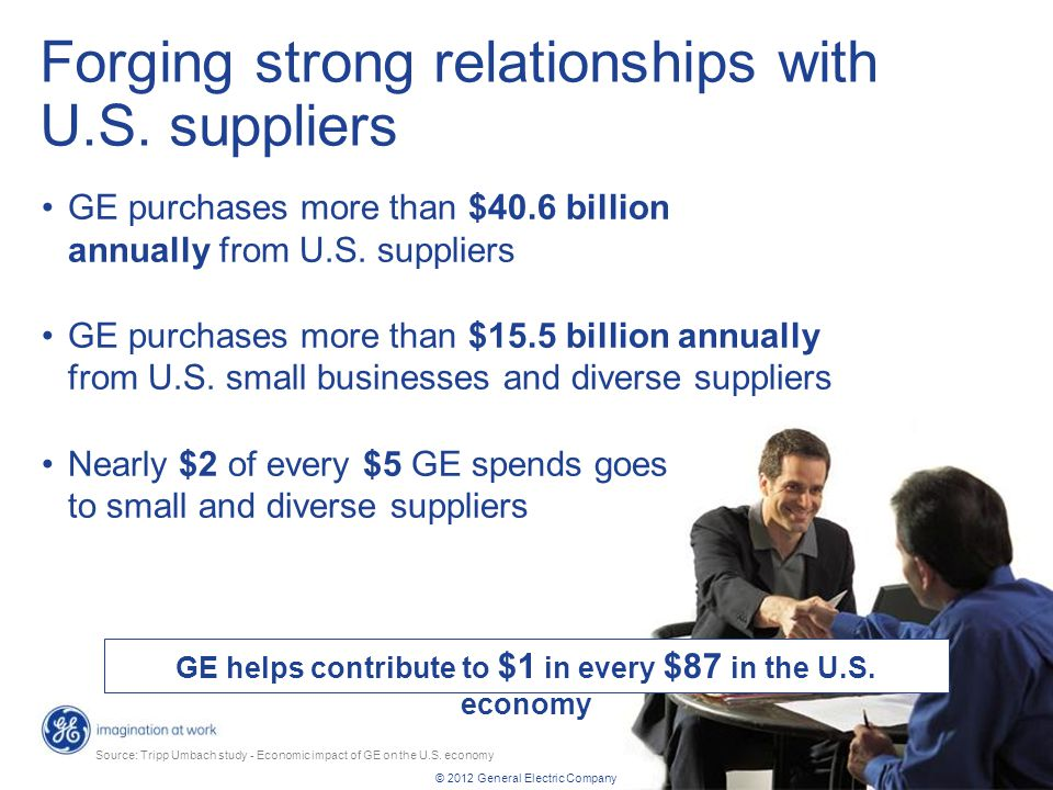 Forging strong relationships with U.S. suppliers