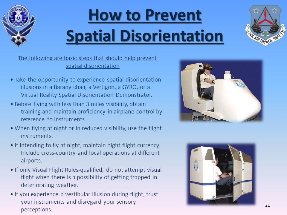 How to Prevent Spatial Disorientation