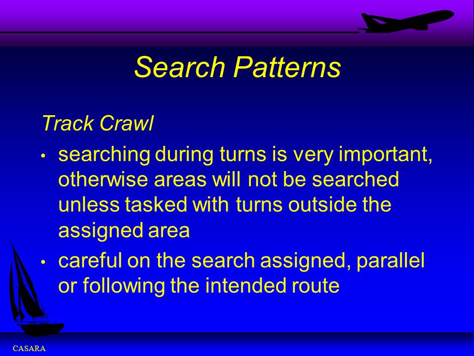 Search Patterns Track Crawl