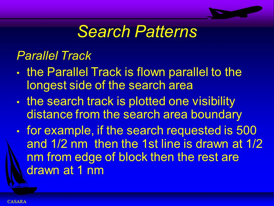 Search Patterns Parallel Track