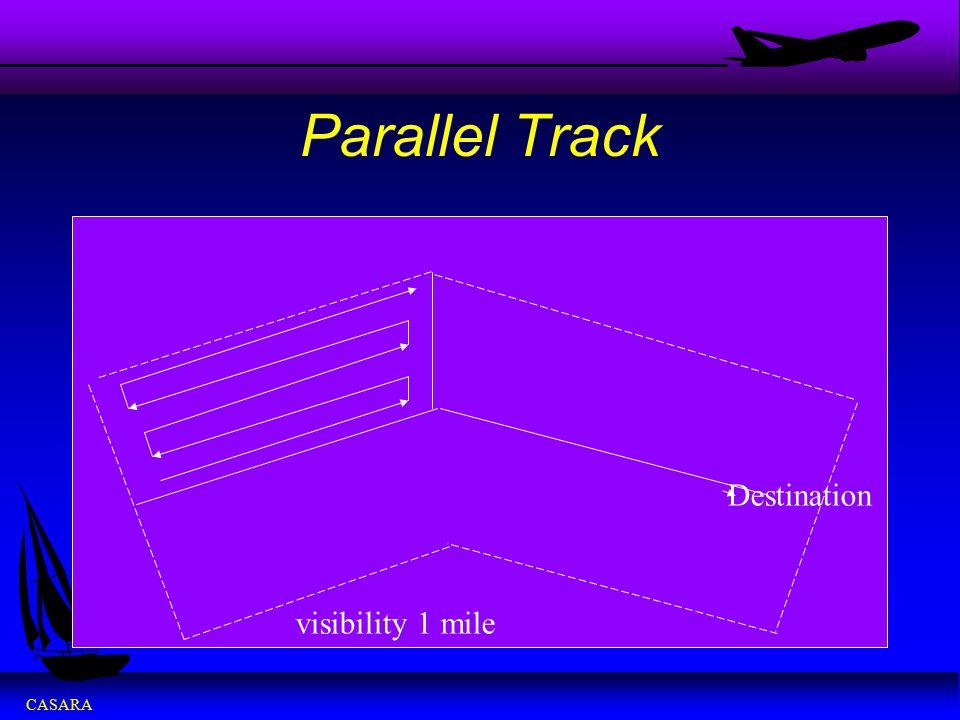 Parallel Track Destination visibility 1 mile