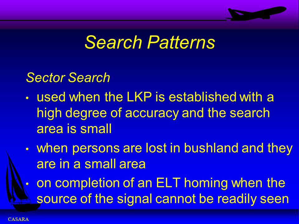 Search Patterns Sector Search