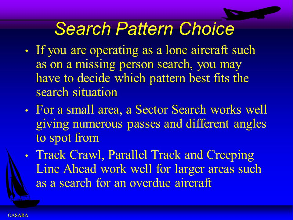 Search Pattern Choice