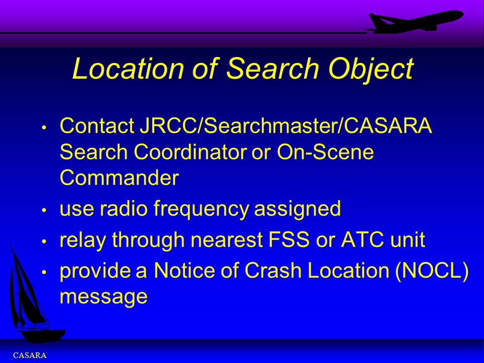 Location of Search Object