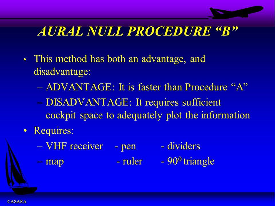 AURAL NULL PROCEDURE B