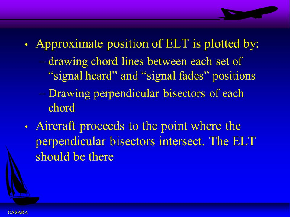 Approximate position of ELT is plotted by: