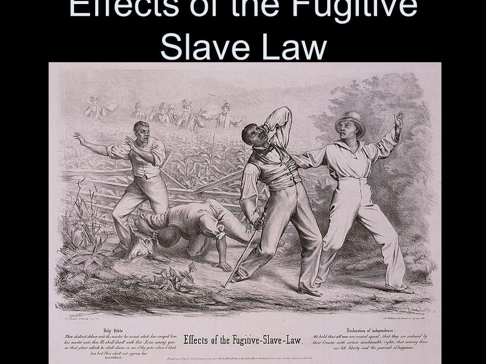 Effects of the Fugitive Slave Law