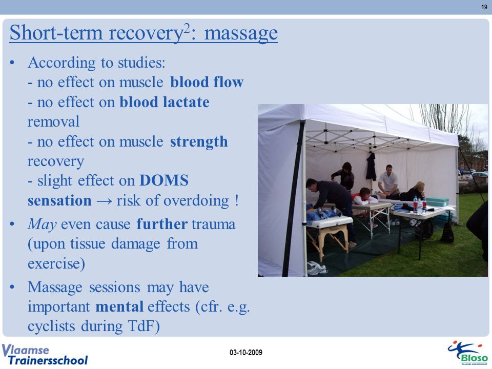 Short-term recovery2: massage