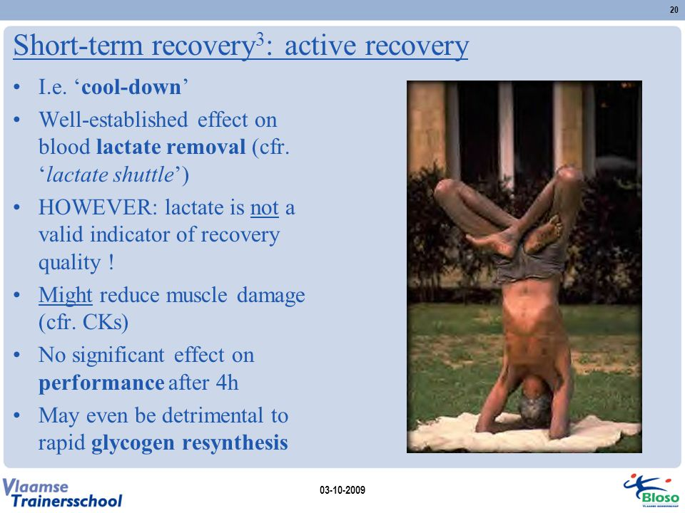 Short-term recovery3: active recovery
