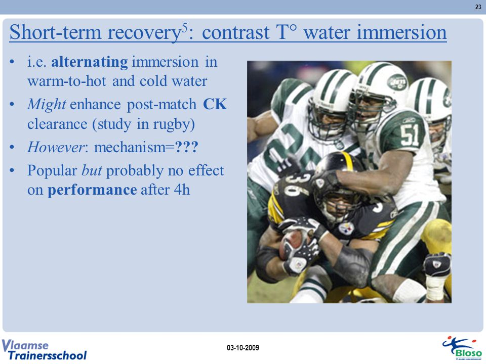 Short-term recovery5: contrast T° water immersion