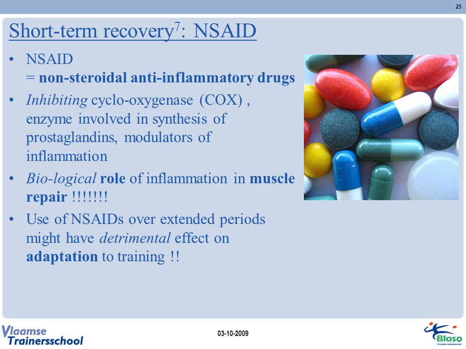 Short-term recovery7: NSAID