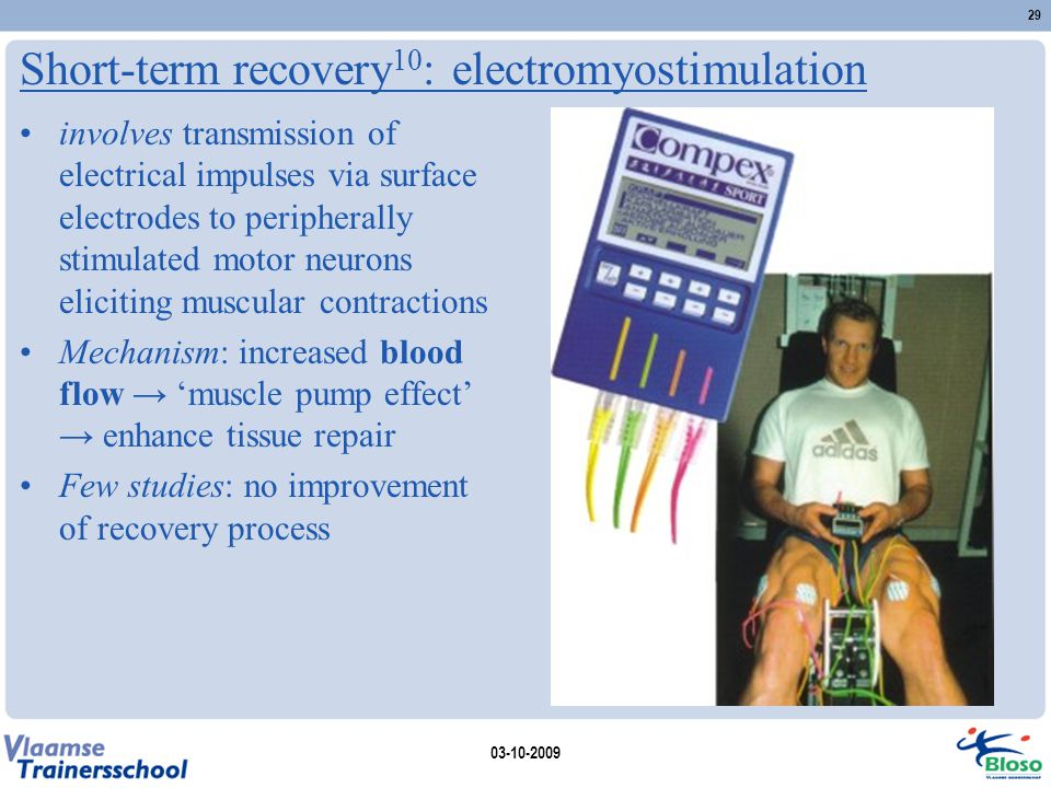 Short-term recovery10: electromyostimulation