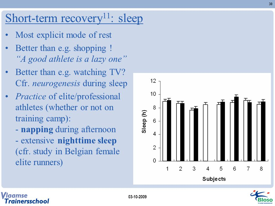 Short-term recovery11: sleep