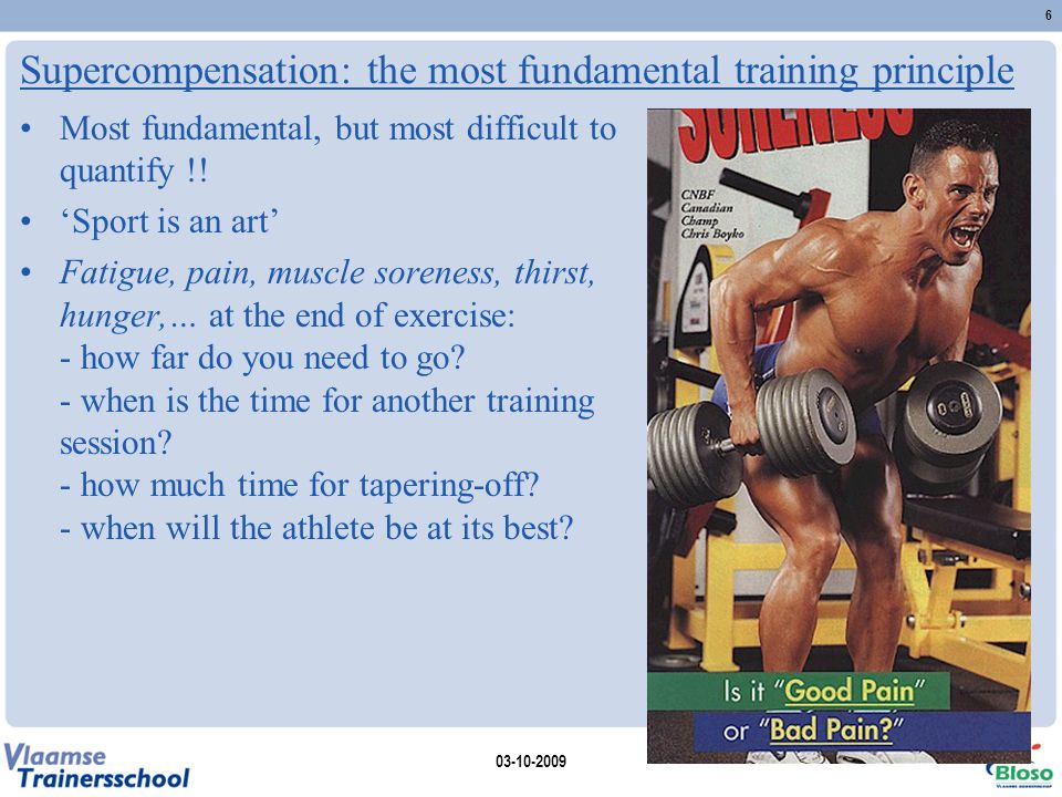 Supercompensation: the most fundamental training principle