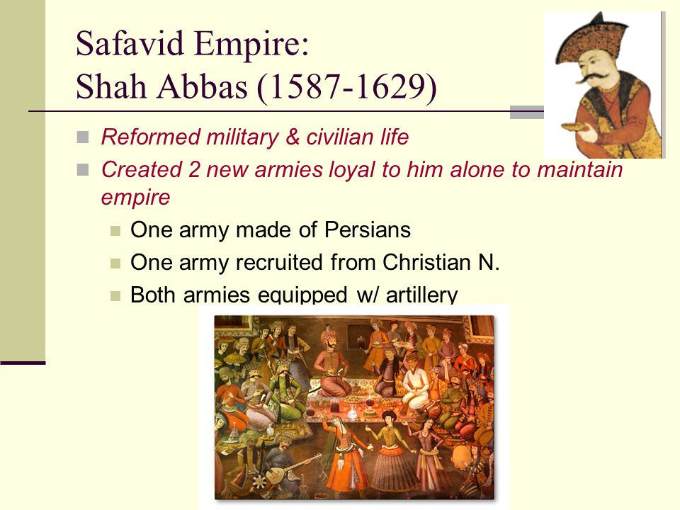 Safavid Empire: Shah Abbas (1587-1629)