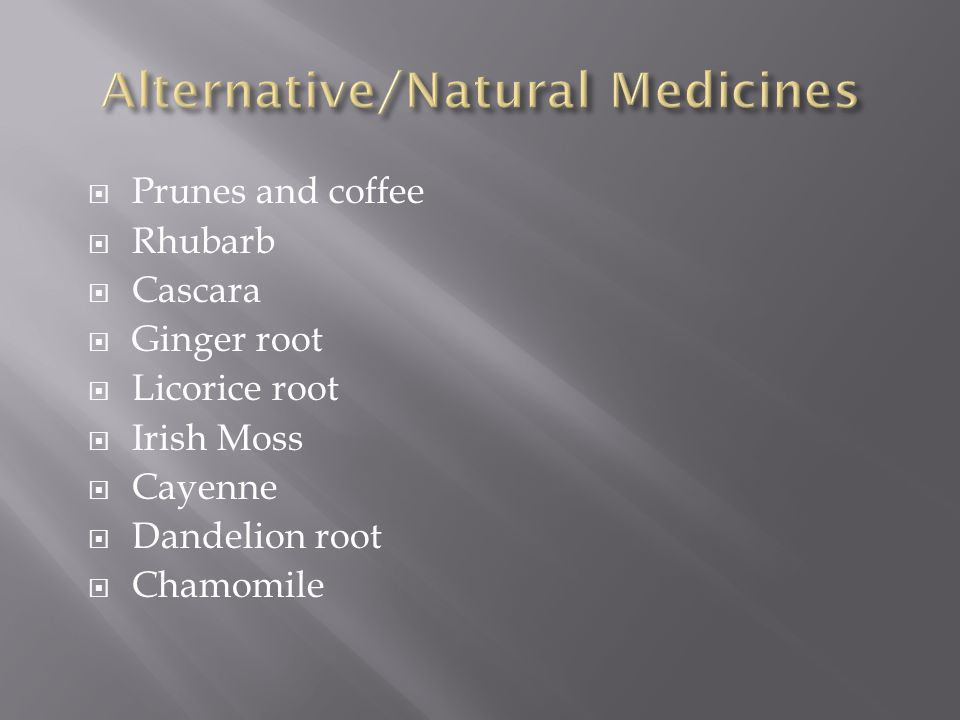 Alternative/Natural Medicines