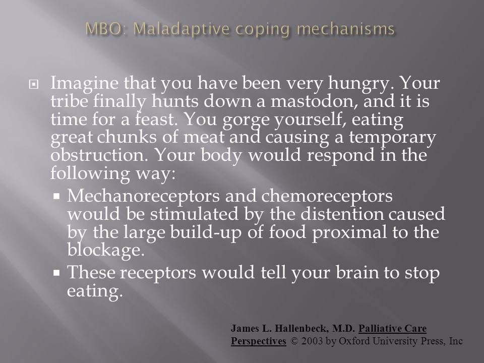 MBO: Maladaptive coping mechanisms