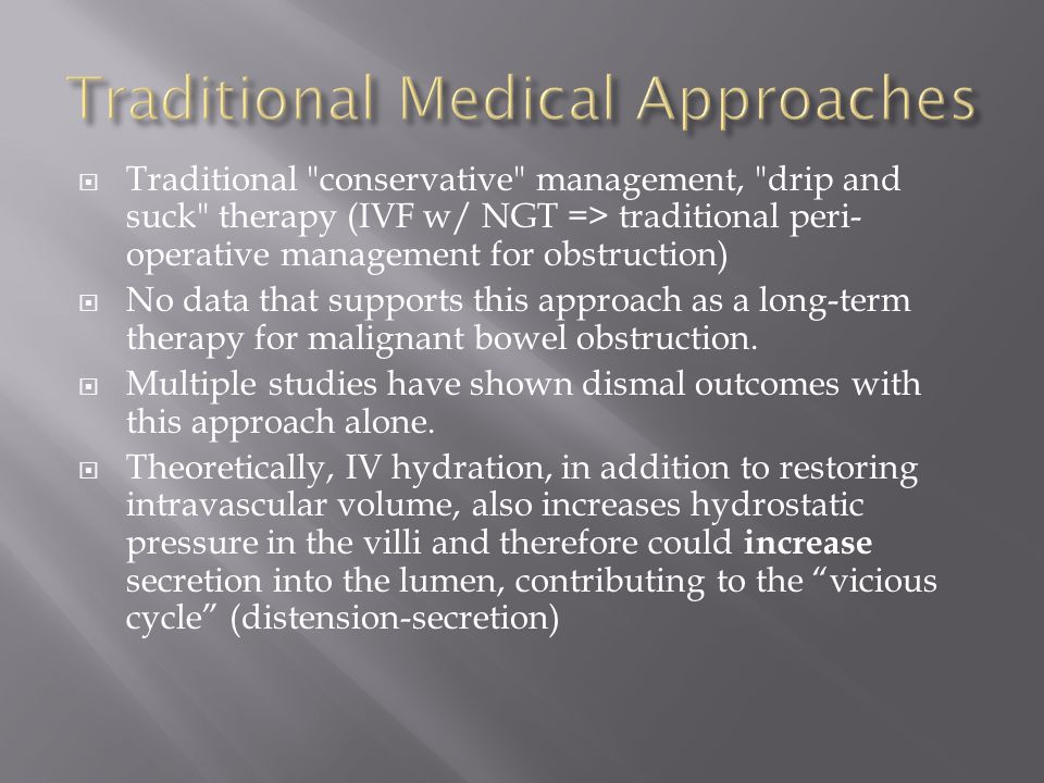Traditional Medical Approaches