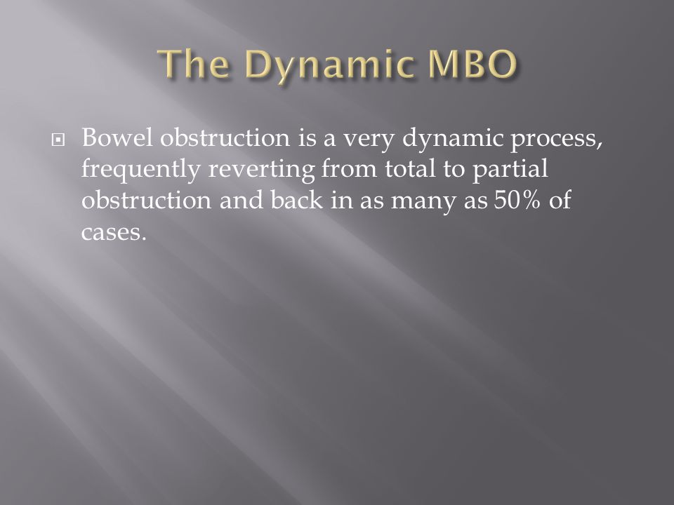 The Dynamic MBO