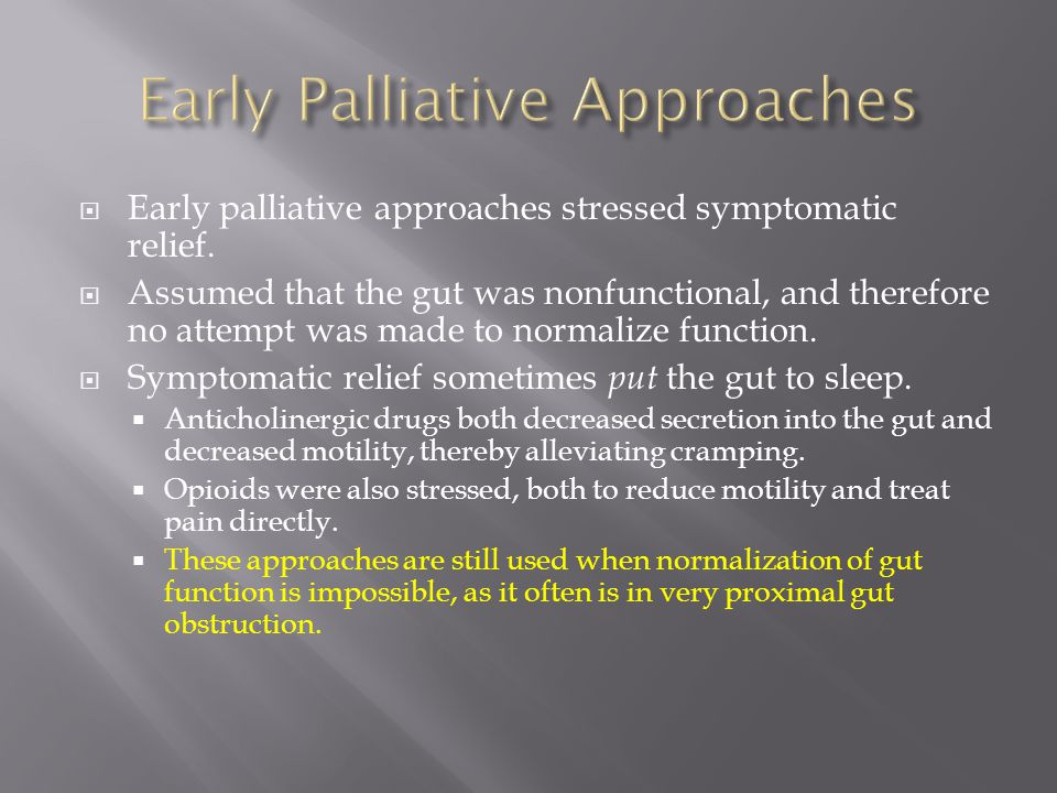 Early Palliative Approaches