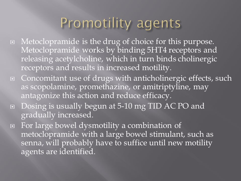 Promotility agents