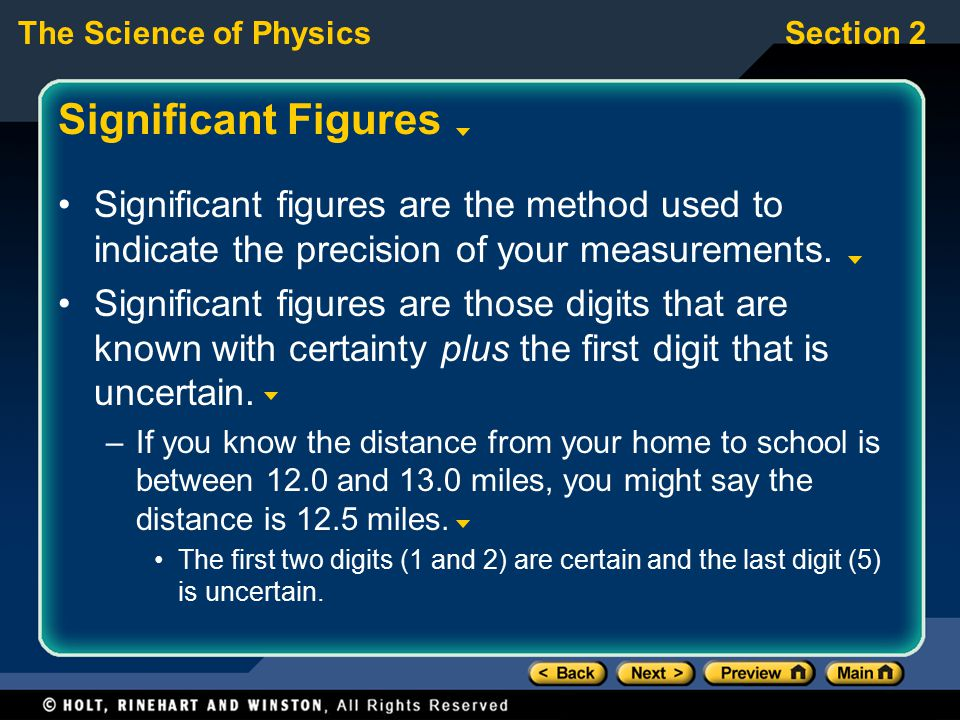 Significant Figures Significant figures are the method used to indicate the precision of your measurements.