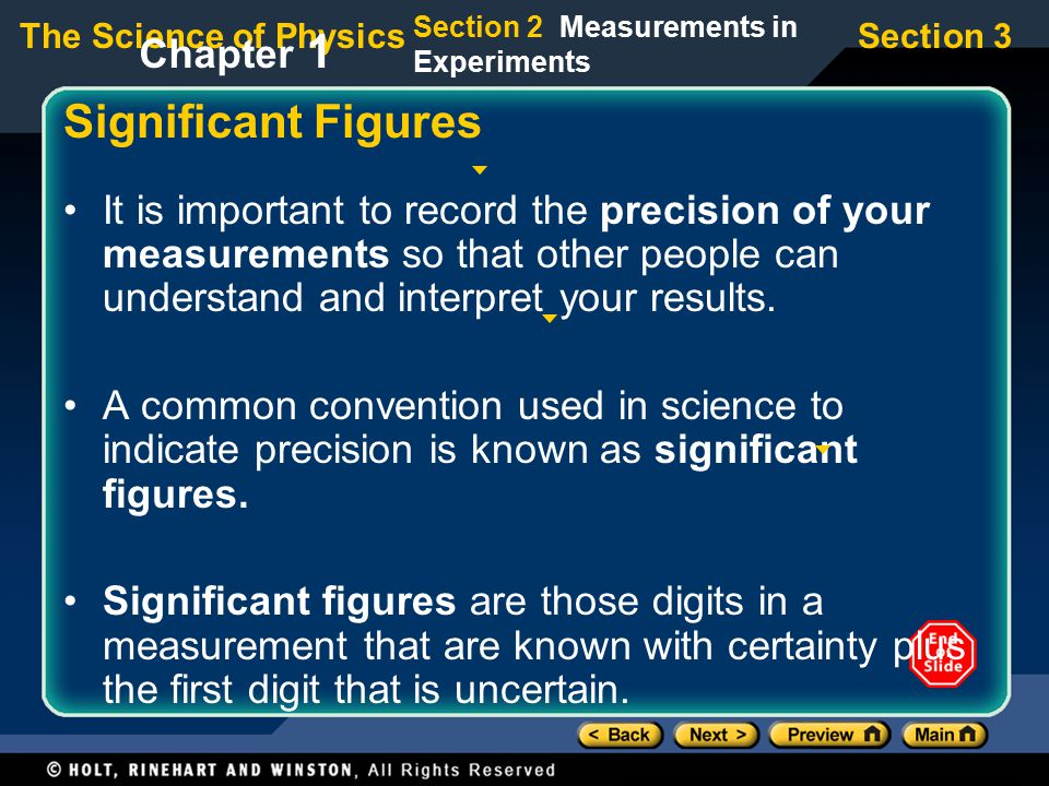 Significant Figures Chapter 1