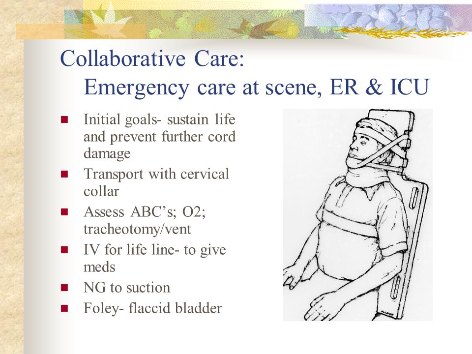 Collaborative Care: Emergency care at scene, ER & ICU