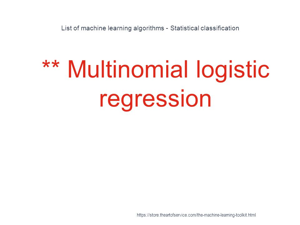 List of machine learning algorithms - Statistical classification